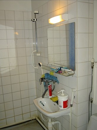Kylpyhuone lattia